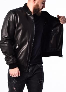 Весенняя кожаная куртка (американка, бомбер) ATROP0B