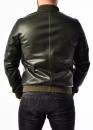 Кожаная мужская куртка (американка, бомбер)
