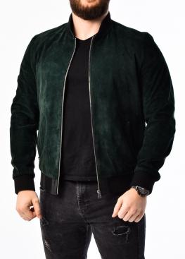 Весенняя замшевая куртка (американка, бомбер) ATRZ0G