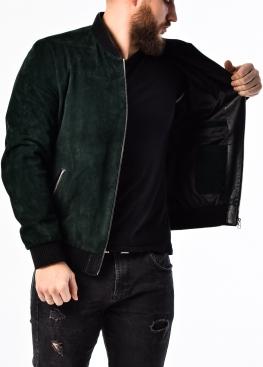 Весняна замшева куртка (американка, бомбер) ATRZ0G