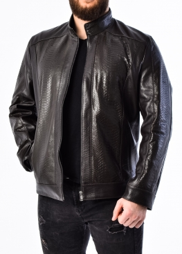 "Spring leather jacket under ""Python"" PITNJAR0K"