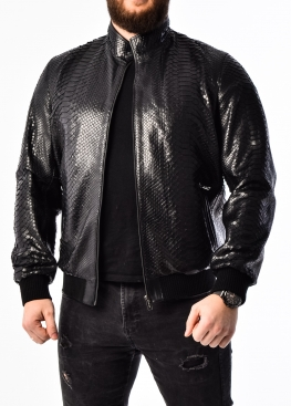 Spring jacket made of genuine python leather PITON0B