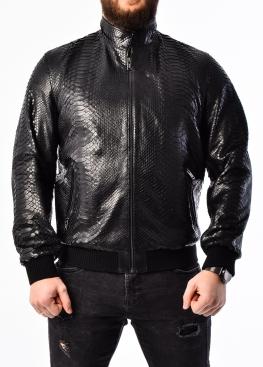 Весенняя куртка из натуральной кожи питона PITON0B
