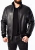 Winter deer leather jacket with fur TROL2BB