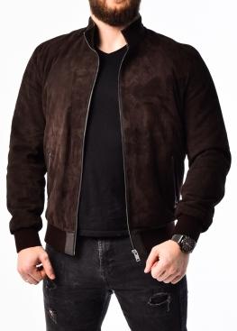 Осіння замшева чоловіча куртка під резинку TRZ0K