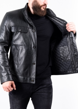 Autumn fitted leather jacket 88R0B