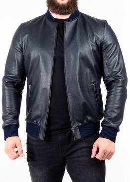 Весенняя кожаная куртка (американка, бомбер) ATROL1I