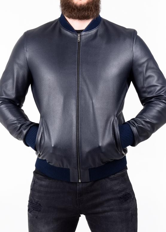 Spring leather jacket (American, bomber jacket)