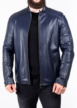 Spring fitted leather jacket FILS0I