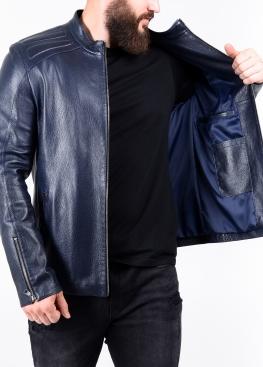 Весенняя приталенная куртка кожаная FILS0I