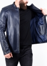 Spring fitted leather jacket