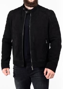 Весенняя приталенная кожаная мужская куртка FORDNB1B