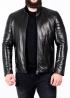 Весняна приталена шкіряна куртка чоловіча MK1L0B
