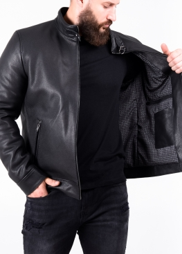 Autumn fitted leather jacket MTOV1B