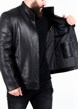 Autumn leather jacket men's fitted NJARKR1B