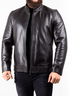 Autumn deer leather jacket fitted NJAROL1K