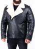 Winter leather jacket men calfskin NKOSOP2BV