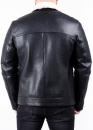Зимняя кожаная куртка косуха из кожи теленка