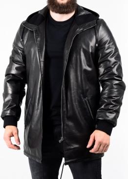 """Autumn leather """"parka"""" with a hood PARK1B"""