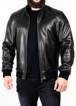 Весняна шкіряна куртка під резинку TRL0B
