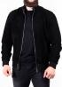 Men's spring suede perforated jacket TRPZ0B