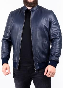 Autumn leather jacket with elastic band TRS1I