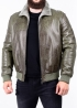 Winter leather jacket with fur under elastic band TRS2CC