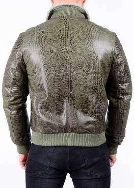 Зимова шкіряна куртка з хутром під резинку TRS2CC