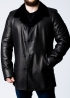 Winter leather short coat with fur 63H2BB