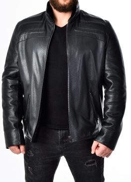 Winter fitted leather jacket with fur DMA2BB