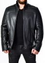 Winter fitted leather jacket with fur