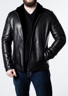 Зимняя приталенная кожаная куртка F1L2BB