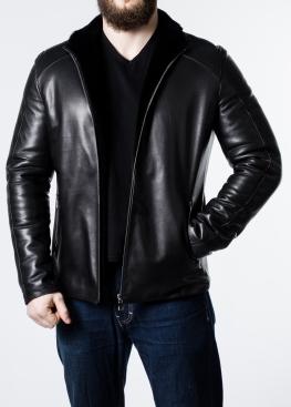 Зимняя приталенная кожаная куртка FIL1L2BB