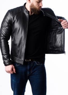 Весняна приталена шкіряна чоловіча куртка FORDS0B