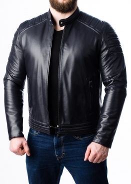 Spring fitted leather men jacket FORDS0I