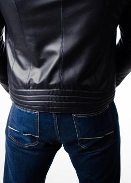 Spring fitted leather men jacket FORDL0I