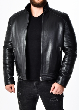 Зимняя приталенная кожаная куртка FORDS2BB