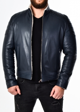 Зимняя приталенная кожаная куртка FORDS2IV