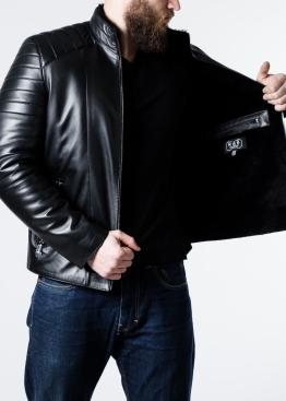 Зимняя приталенная кожаная куртка MK1L2BB
