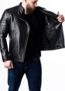 Весенняя кожаная куртка-косуха мужская