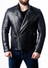 Весенняя кожаная куртка-косуха мужская MKL0I