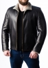 Winter leather jacket with fur MLK2BC