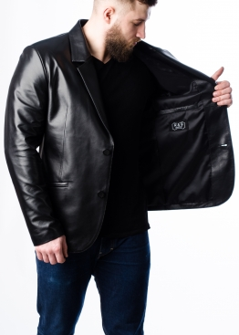 Кожаный пиджак мужской NJACL0B