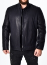 Autumn men's leather jacket fitted