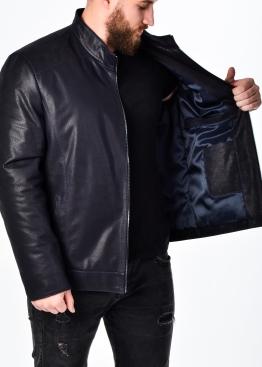 Осенняя кожаная куртка мужская приталенная NJARH1I