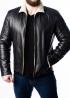 Зимняя кожаная куртка мужская NMLS2BV