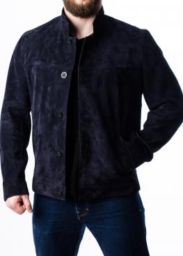 Весенняя замшевая приталенная куртка P88Z0I