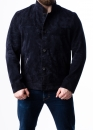 Весенняя замшевая приталенная куртка