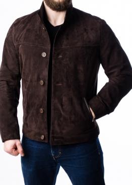 Весенняя замшевая приталенная куртка P88Z0K