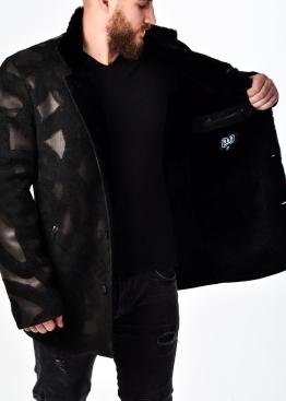 Зимнее кожаное пальто на меху STU2BB